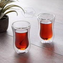 Tohana Çift Cidarlı Cam Çay Bardağı resmi