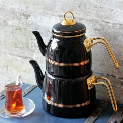 ACAR Roma Emaye Çaydanlık Takımı resmi