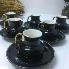 ACAR Gold Detaylı Siyah Kahve Fincanı resmi