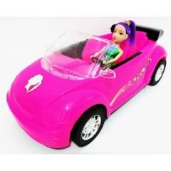 King Toys Bebekli Üstü Açık Araba
