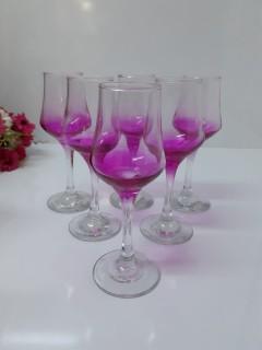 Sigma Glass 95514 Ayaklı Pembe Kahve Yanı Bardağı resmi