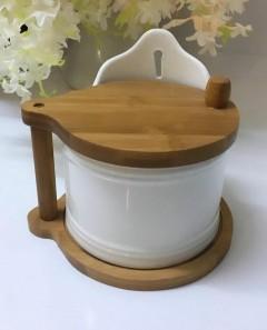 Arow Bambulu Porselen Tuz - Şeker Kabı resmi