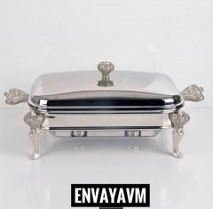 Paçi Çelik Kapaklı Isıtmalı Dikdörtgen Servis 3 Lt