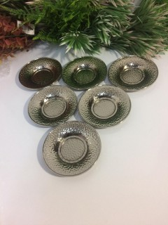 Metal Çay Tabağı -Gümüş resmi