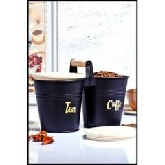 Mien Bambu Kapaklı Kulplu Çay - Kahve Saklama Kabı resmi