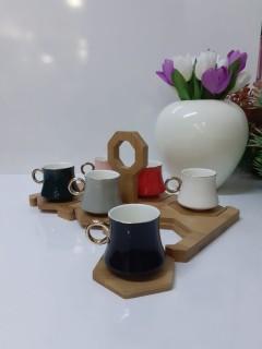 KRD Home Bambu Standlı Kahve Fincan Takımı  KRD-1353