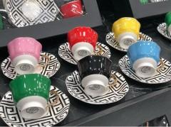 KRD Home Versace Kahve Fincan Takımı  KRD-1348 resmi
