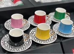 KRD Home Versace Kahve Fincan Takımı  KRD-1349 resmi