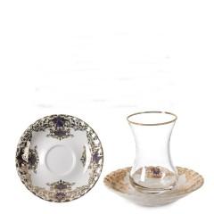 Vidrex Porselen Tabaklı 12 Parça Çay Seti - 00843 resmi