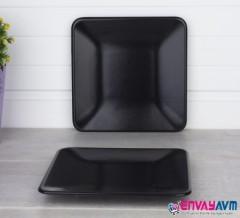 Acar Mat Siyah Servis Tabağı 20 Cm resmi