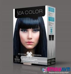 Sea Color Mavi Siyah Saç Boyası 1.1 resmi