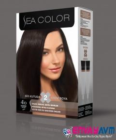 Sea Color Kahve Saç Boyası 4.0 resmi