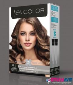 Sea Color Küllü Açık Kumral Saç Boyası 8.1 resmi