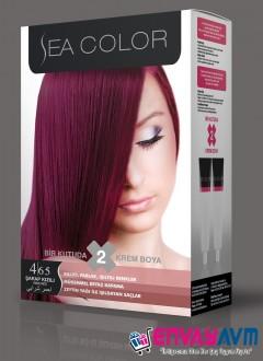 Sea Color Şarap Kızılı Saç Boyası 4.65 resmi