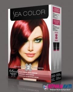 Sea Color Ateş Kızılı Saç Boyası 66.46 resmi