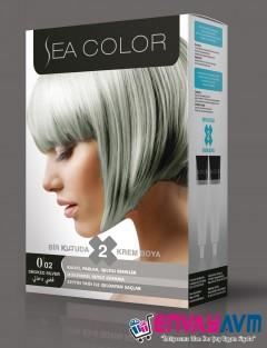 Sea Color Gümüş Gri Saç Boyası 0.02 resmi