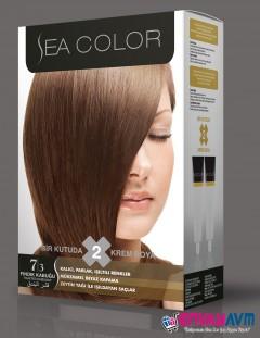 Sea Color Fındık Kabuğu Saç Boyası 7.3 resmi