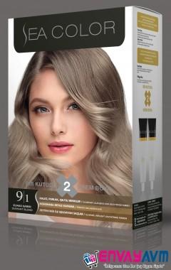Sea Color Elmas Sarısı Saç Boyası 9.1 resmi