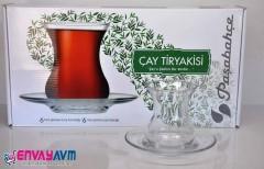 Paşabahçe Çay Tiryakisi  12 Parça Çay Seti resmi