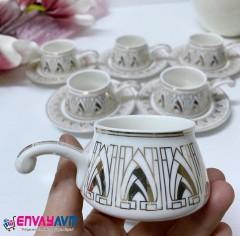 FRK 6'lı Kulplu Kahve Fincan Takımı resmi
