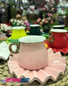FRK 6'lı Renkli Kahve Fincan Takımı