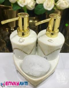 Yakut 2'li Süngerli Sıvı Sabunluk