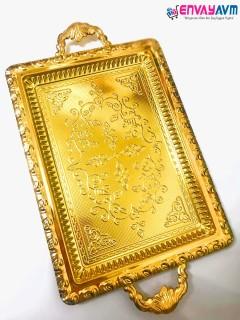 Dalgıç Gold Diktörgen Tepsi resmi