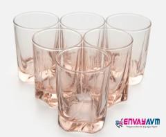 Paşabahçe Luna 6'lı Kahve Yanı Bardağı Pembe resmi
