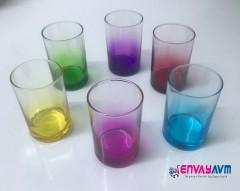 Sigma Beykoz Renkli 6'lı Kahve Yanı Bardağı resmi