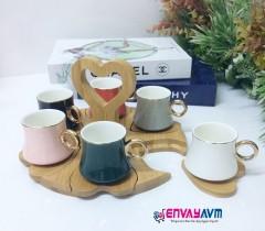 Yakut Bambu Standlı Kahve Fincanı 8923 resmi