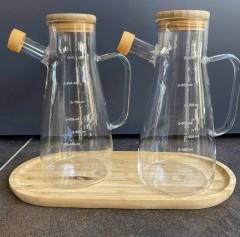 Tekbir borosilikat cam yağlık 900 ml resmi