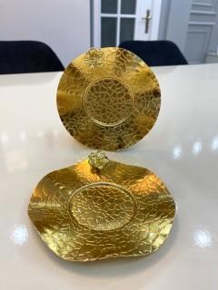 GOLD FİNCAN VE ÇAY TABAĞI TEKLİ resmi