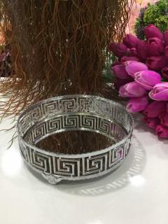 20 Cm Versace Aynalı Tepsi - Gümüş