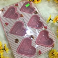 12'li Kalp Şeklinde Granit Kek Kalıbı
