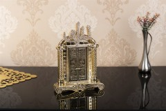 İnci Kabe Kapısı Ve Allah Lafzı Swarovski Taşlı Biblo - Gold
