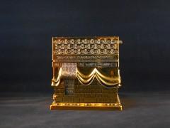İnci Kabe Polyester, Swarovski Taşlı Biblo - Gold resmi
