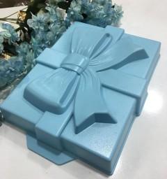28x23x4cm Acar Kurdela Şeklinde Döküm Mavi Renk Kek Kalıbı