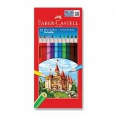 Faber-Castell 12'li Tam Boy Kuru Boya  resmi