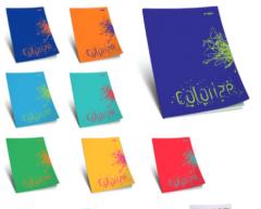 Çınar Colorize  A4 Tel Dikişli Karton Kapak 80 Yaprak Çizgili resmi